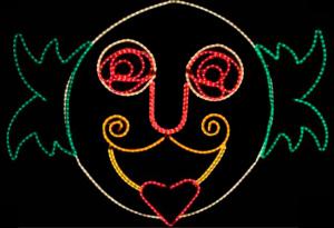 Iluminación Carnaval Careta Payaso 300x205 Catálogo de Iluminación